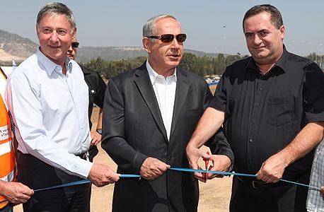 חנוכת מחלף גולני בנימין נתניהו ישראל כץ, צילום: סוכנות ג'יני