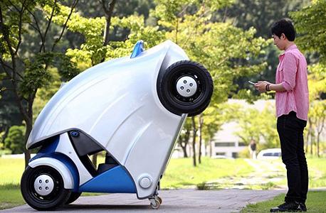 המכונית אחרי הקיפול