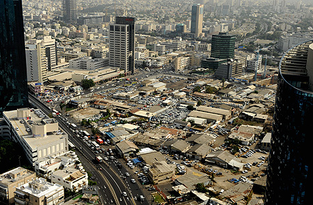"""צילום אוויר של מתחם השוק הסיטונאי בת""""א (ארכיון)"""