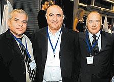 מימין: יעקב רז, משה קראדי, שוקי סגיס
