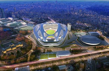 הדמיית האצטדיון האולימפי ביפן. עיצוב חדשני, צילום: Zaha Hadid