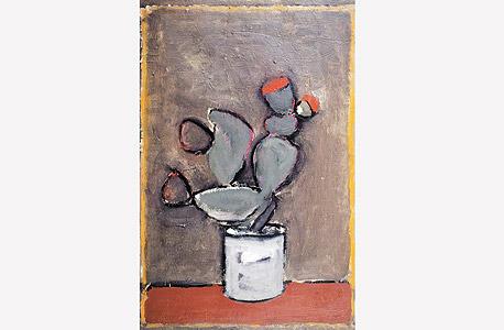 """Cactus"" של עאסם אבו שקרה. גלריה שלוש"