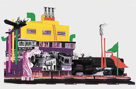 """Building Renovation Proposal"" של יגאל תומרקין. גלריה חזי כהן"