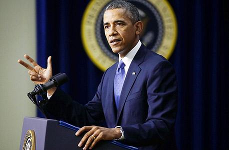 """ברק אובמה נשיא ארה""""ב, צילום: איי פי"""