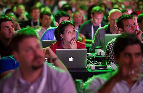 יזמים בכנס טכנולוגיה בסן פרנסיסקו, צילום: בלומברג