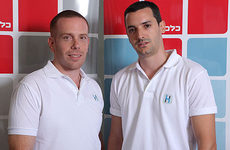 """דוד מזומן (מימין) ועופר סיני. מייסדים ומנכ""""לים משותפים של HopOn"""