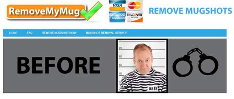 אתר removemymug.com - שירות חיוני בתשלום נוח של 900 דולר