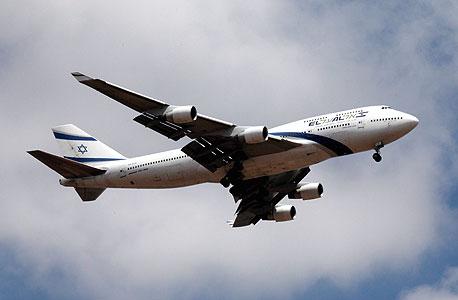 מטוס אל על ממריא, צילום: עמית שעל