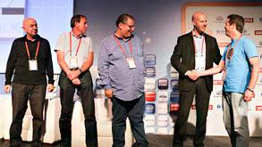 ראשון גל בריל brow.si, מקבל את הפרס, צילום: נמרוד גליקמן