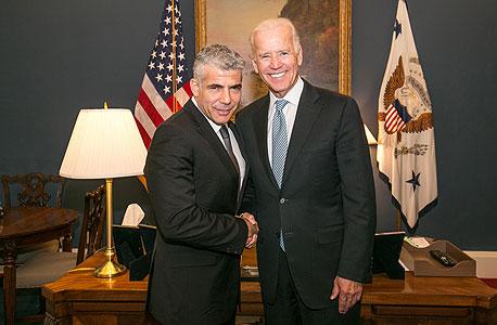 "פגישה שר האוצר יאיר לפיד עם סגן נשיא ארה""ב ג'ו ביידן, צילום: שמוליק עלמני"