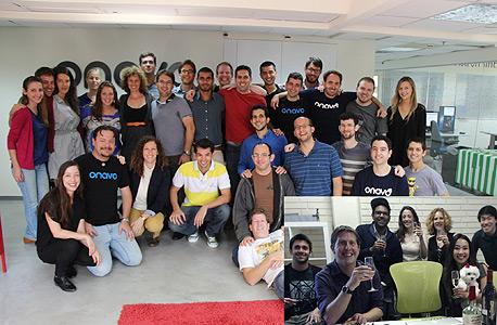 צוות אונאבו והצוות של פייסבוק (בחלון הקטן), מתוך שיחת וידאו שבוצעה לכבוד רכישת החברה