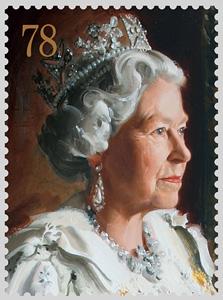 בול של מלכת אנגליה