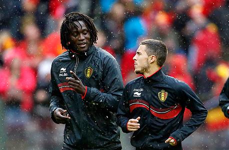לוקאקו והאזרד. לא עוני ולא הגירה וגם לא מזל מאחוריי ההצלחה של נבחרת בלגיה -אלא המוח האנושי, צילום: רויטרס