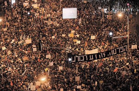 """אחת מהפגנות הענק בתל אביב בקיץ 2011. """"המחאה היתה הצלחה גדולה, שגרמה להחלפה של מערכת שלמה של מה שנקרא שכל ישר"""""""