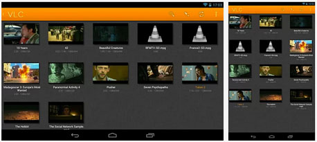 VLC, צילומי מסך: itunes appstore ו-google play