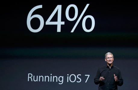 טים קוק מנכל אפל אייפד חמישי אירוע, צילום: רויטרס