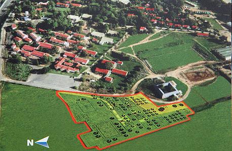 המיקום המתוכנן של הקמפוס בתוך הכפר הירוק. גייסו כבר 4 מיליוני שקלים מתוך 8 המיליונים הנדרשים לשלב הראשון