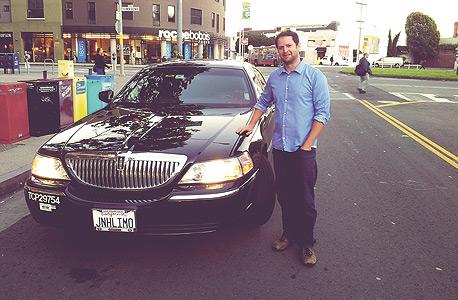 מכונית הלינקולן שהגיעה כשחיפשתי טרמפ באפליקציית Uber, צילום: אסף גלעד