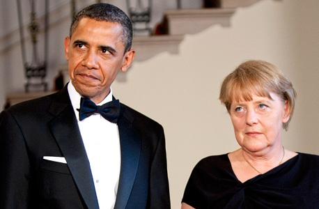 אנגלה מרקל ו ברק אובמה, צילום: בלומברג