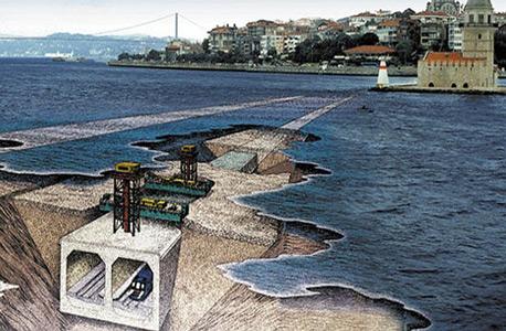 הדמיית המנהרה. פרויקט שהציע הסולטן העותמאני