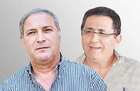 מימין עופר עיני ו בנצי ליברמן, צילום: טל שחר, אוראל כהן