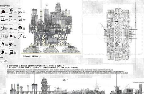 תרשים העיר, המראה את הבניינים ואזורי הפעולה שבה