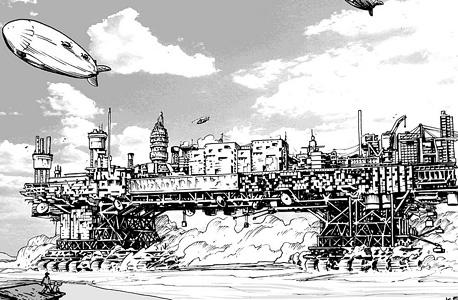 אילוסטרציית העיר הניידת