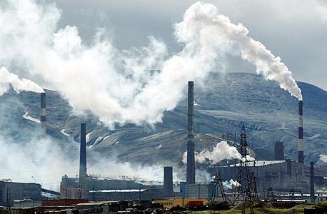 נורילסק בצפון רוסיה. התושבים חשופים למחלות בדרכי הנשימה ולסרטן