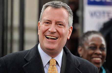 ראש עיריית ניו יורק ביל דה בלאזיו. דיור בר-השגה, צילום: איי אף פי
