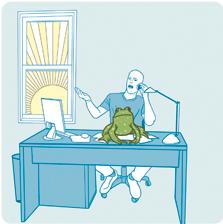 בלעו צפרדע על הבוקר. התחילו כל בוקר בביצוע המשימה הכי פחות מלהיבה שממתינה לכם