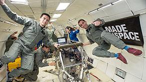 """עובדי החברה, במטוס מיוחד של נאס""""א שמדמה תנאי חוסר כבידה, צילום: NASA-Bill Stafford"""