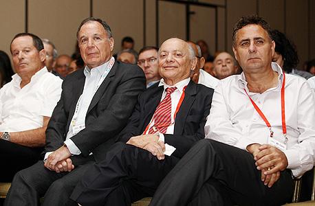 ועידת שוק ההון 2013 רמי שביט יוסי גרוס דני גילרמן מאיר שמיר, צילום: אוראל כהן