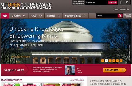 אתר הקורסים של ה-MIT