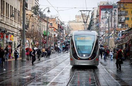 וידאו רחוב יפו ירושלים רכבת קלה, צילום: מיקי נועם אלון
