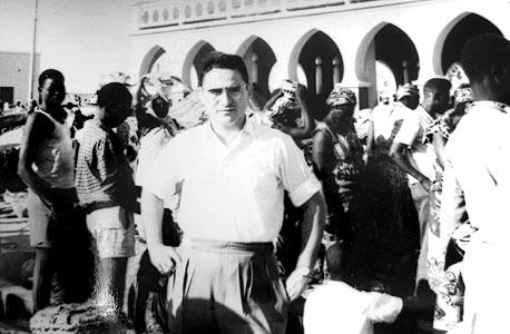 גבי תמן הצעיר בנופש בבורונדי ב־1954