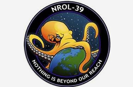 ללא בושה: לוגו התמנון של לוויין ה-NSA