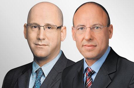 מימין גיל שרון מנכל פלאפון ו ניר שטרן מנכל סלקום, צילום: יונתן בלום