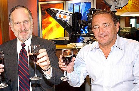 מימין יוסי מימן איש עשסקים ו רון לאודר מיליונר יהודי אמריקאי, צילום: ישראל הדרי