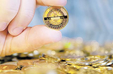 ביטקוין בורסה מטבע מטבעות הודו, צילום: בלומברג
