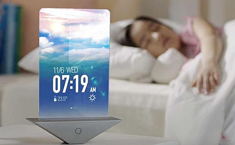 העתיד על פי סמסונג: מסך בכוס הקפה שלך