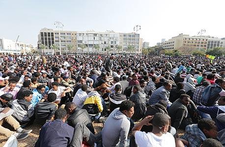 הפגנת פליטים אריתראים בתל אביב (ארכיון)