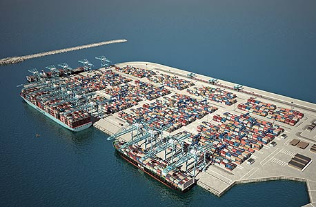 הדמיית הנמל החדש באשדוד, צילום: חברת נמלי ישראל / HUE