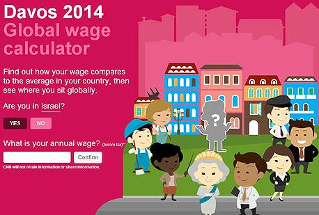 CNN השוואת שכר עולמית אפליקציה