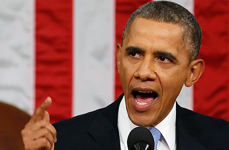 נאום האומה ברק אובמה, צילום: איי פי