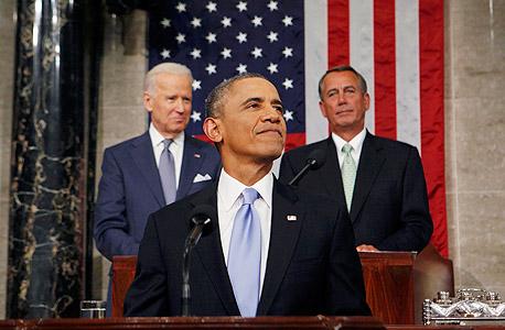 נאום האומה ברק אובמה, צילום: רויטרס