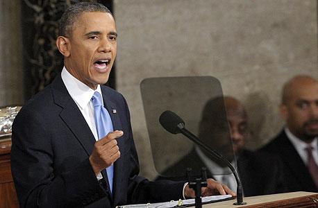 נאום האומה ברק אובמה, צילום: איי אף פי