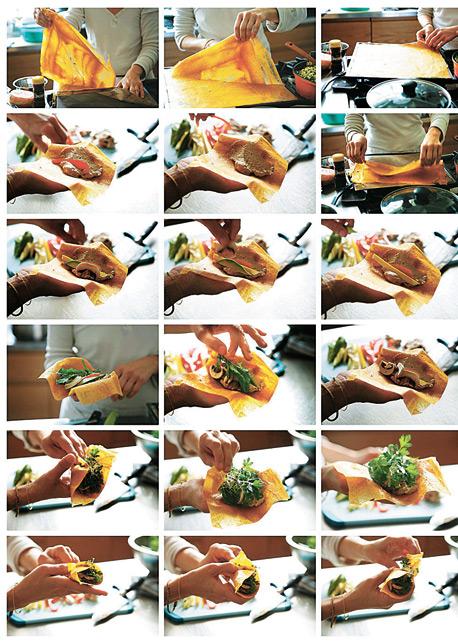 """לדר אפרסמון במילוי ירקות מתוך """"חמש עונות במטבח"""""""