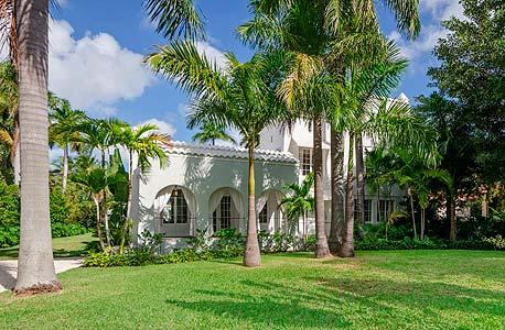 המדשאה באחוזה במיאמי, צילום: רויטרס