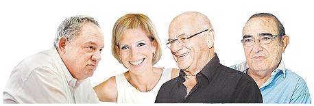 """(מימין) אהוד המאירי, עו""""ד שרגא בירן, עו""""ד ענת בירן ומהנדס העיר ת""""א עודד גבולי"""