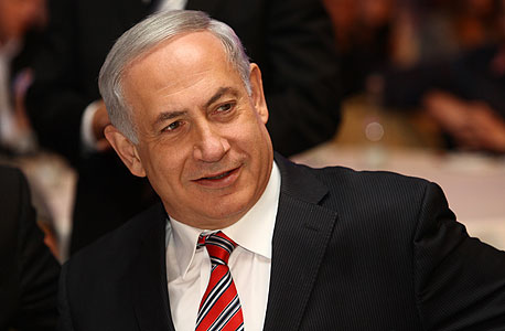 בנימין נתניהו נואם כנס התאחדות התעשייים בישראל, צילום: אוראל כהן